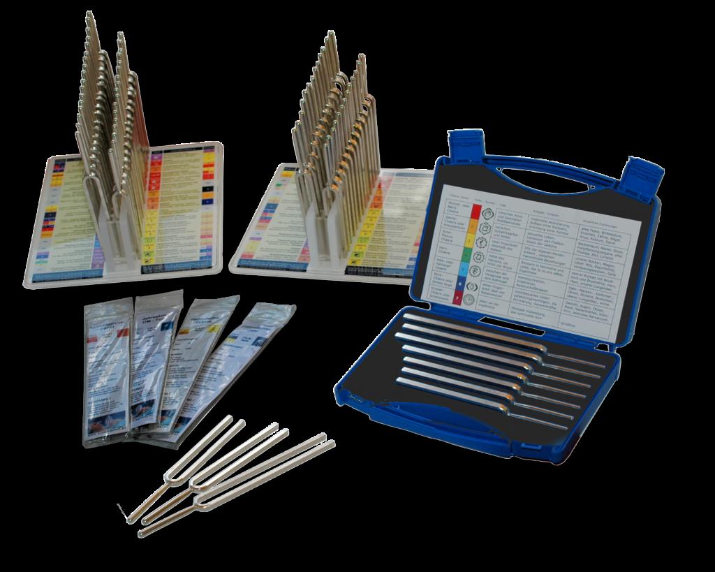 Stimmgabelgroßhandel, Präzisions Stimmgabeln für die Phonophorese Klangtherapie, Stimmgabelsets, Stimmgabelständer, Organton-, Körperton-, Planetenton-, Mineralientonstimmgabeln